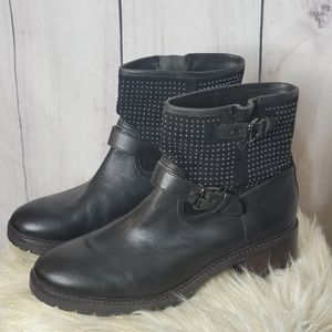 Coach Gates studded motorcycle boots